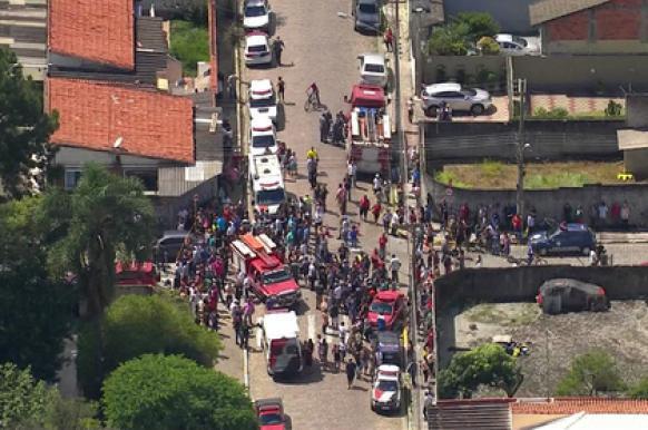 В Бразилии двое подростков открыли стрельбу на поражение. стрельба в школе