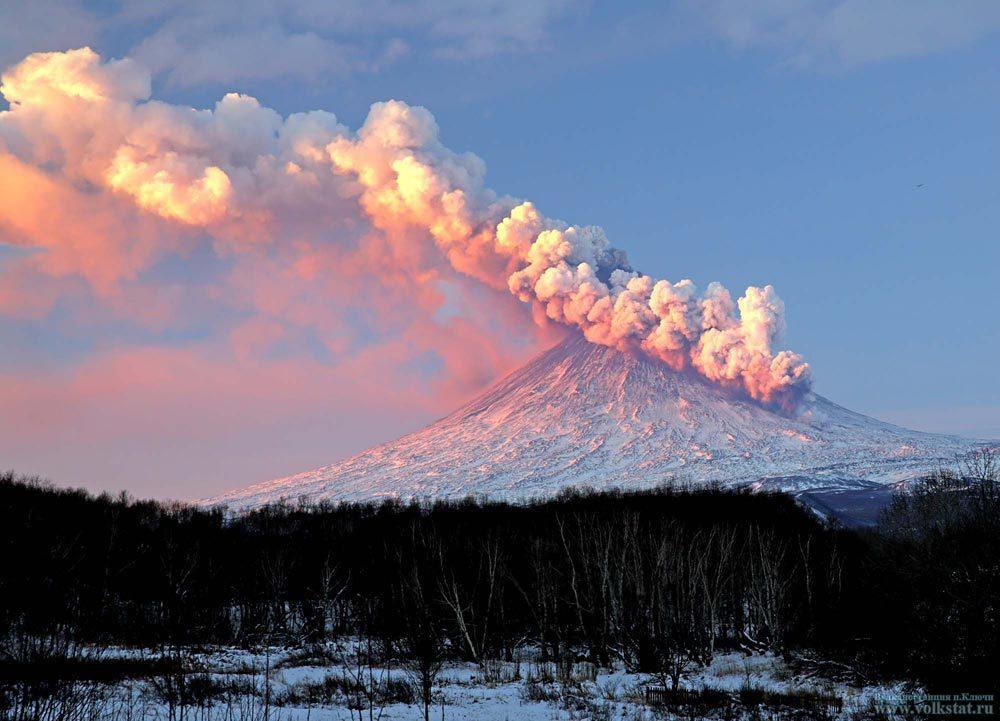 Ожидается извержение вулкана на Камчатке. вулкан