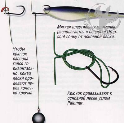 Ловля судака спиннингом на дроп шот