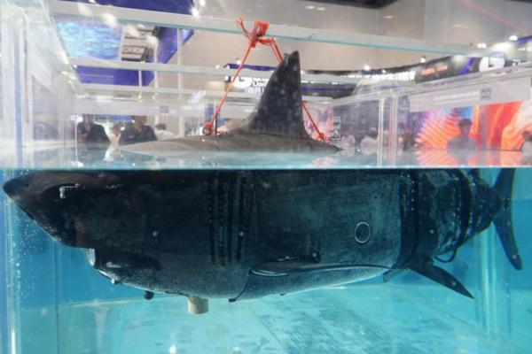 Китайское изобретение: разведывательный дрон, замаскированный под акулу. акула, дрон, разведка, военная промышленность, технологии, Китай