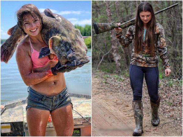 Все парни мечтают об этой девушке, а причина проста — её необычное хобби. рыба, рыбалка, девушка, охота, нудлинг, США