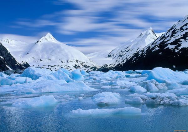 На Аляске растаяли ледники. климат, ледники, Аляска, жара, глобальное потепление