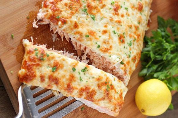 «Сахарная семга, запеченная в духовке с сыром». 14423.jpeg