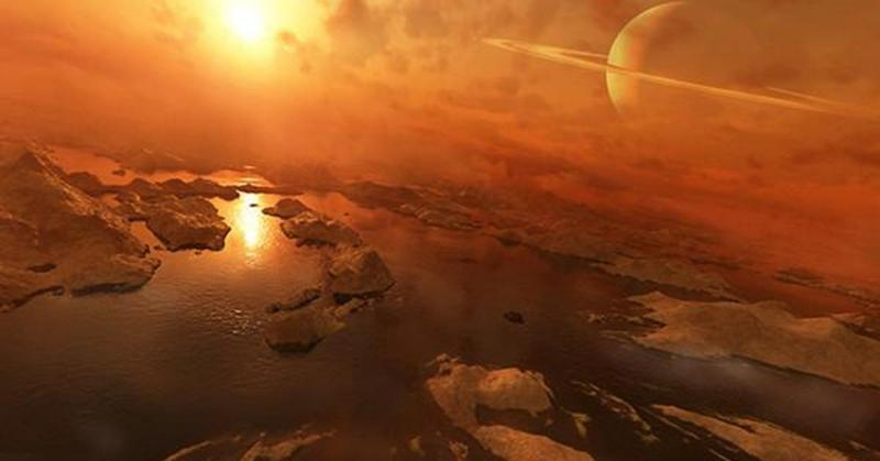 На Титане существуют пересыхающие озера. титан