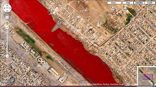 Карты Google Maps озадачили пользователей сети. озеро