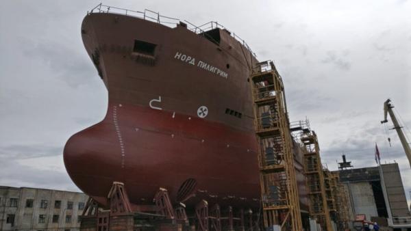 В Выборге на воду спустили первый траулер проекта KMT02. судно, рыболовство, траулер, Выборг
