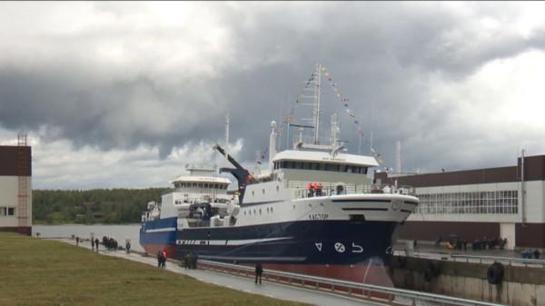 В Санкт-Петербурге был спущен на воду плавучий траулер