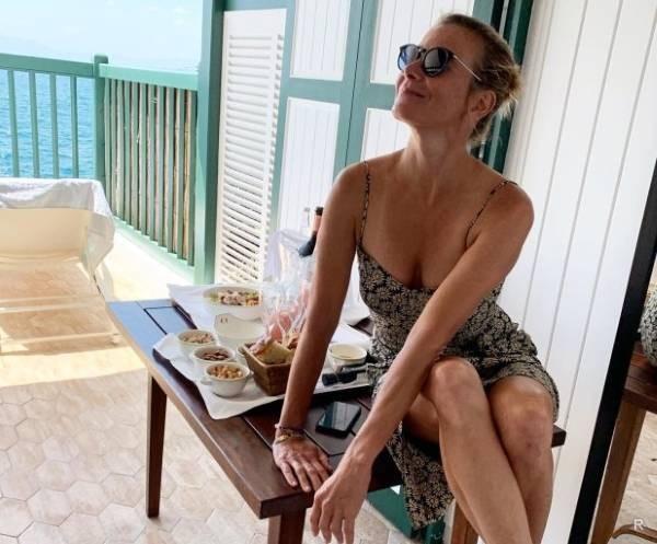 Стильная рыбалка: Юлия Высоцкая приоделась и взяла в руки удочку. актриса, Юлия Высоцкая, рыбалка, рыба