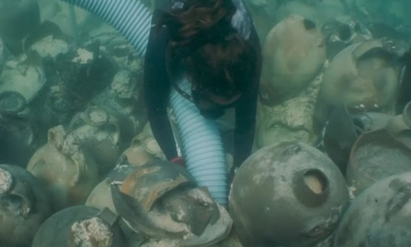 В Испании нашли затонувший корабль с римскими амфорами. археологи, Испания, Средиземное море, Майорки, музей, корабль, Древний Рим, амфоры