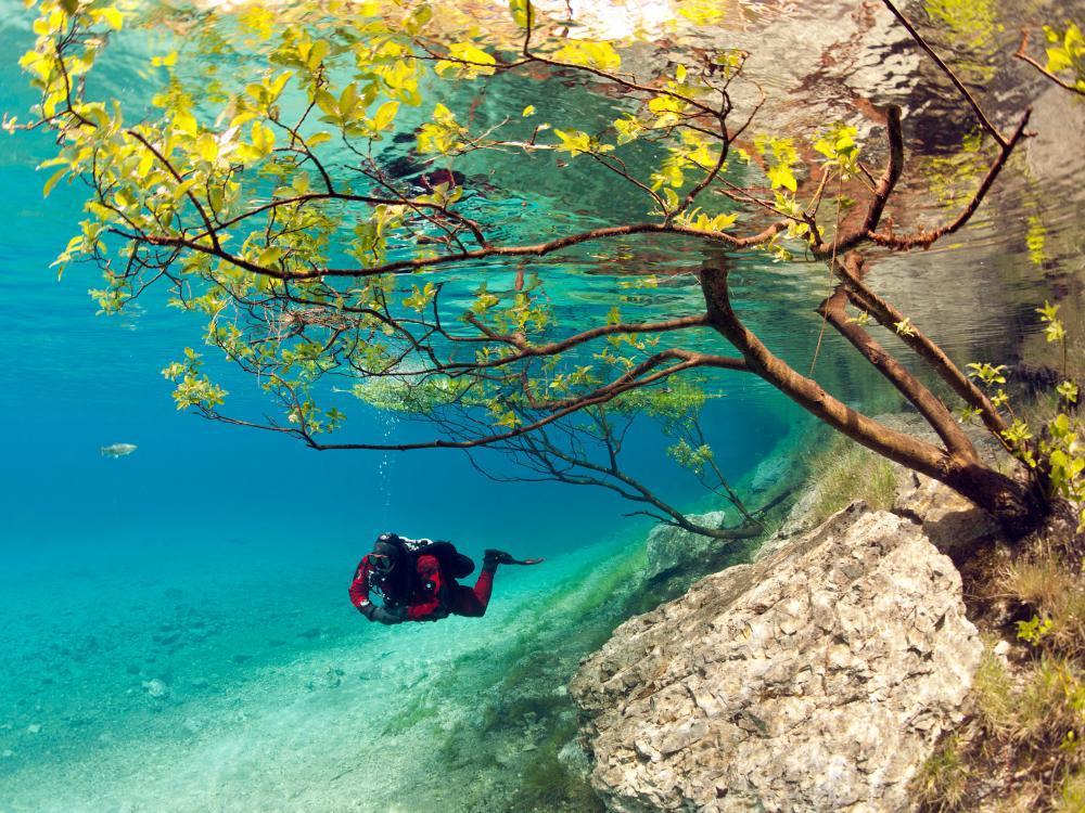 Австрийское Зеленое озеро превращается в потусторонний мир. 14910.jpeg
