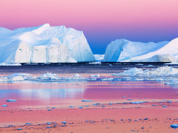В Арктике за август лед стаял на треть больше обычного