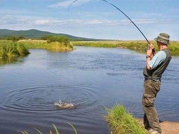 На рыбалке у тёщи