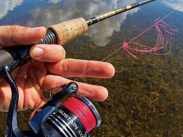 Рыбалка с плетенкой