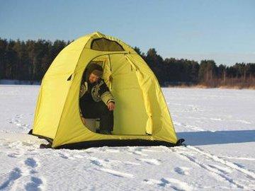 Палатка для ловли зимой: плюсы и минусы